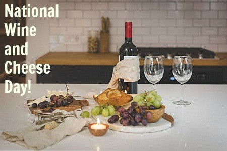 Today is National Wine and Cheese Day! Enjoy a fragrant glass of wine and some delicious cheese!