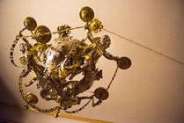 cherub chandelier detail