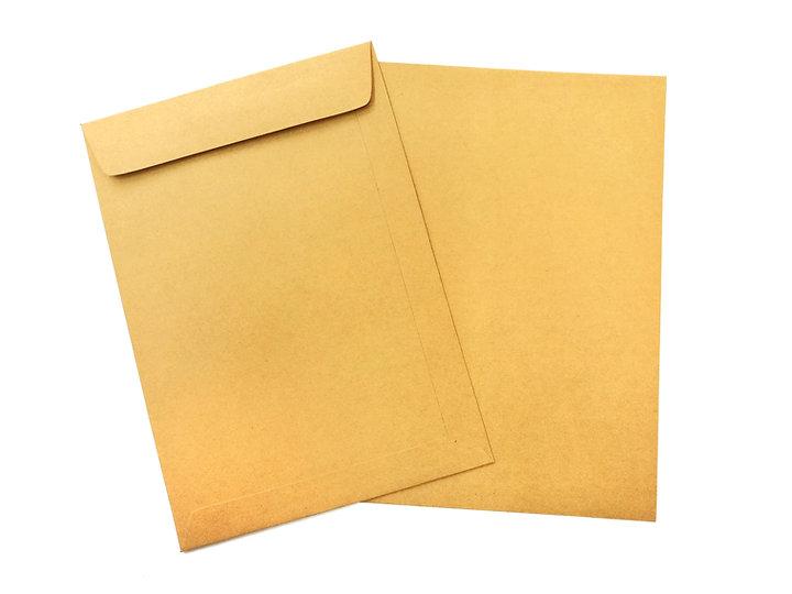 Brown envelopes isolated on white backgr