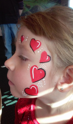 Valentine Face Painting