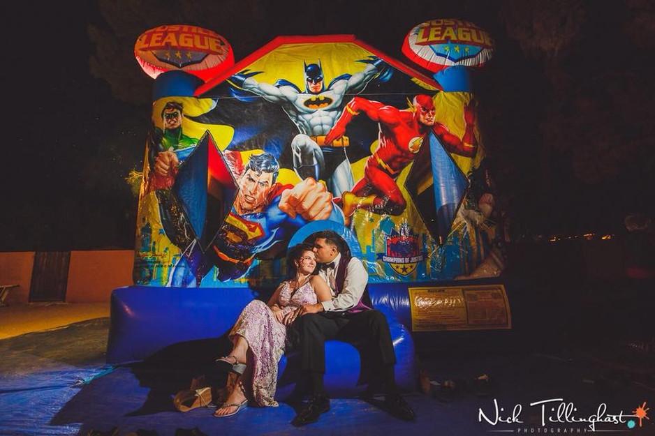 Justice League at Lish and Sammy's Weddi
