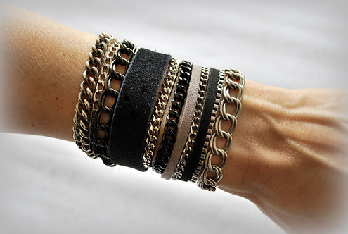 NIMMA | Wrap Bracelet | Shades of Black & Grey