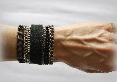 NIMMA (thin) | Wrap Bracelet | Shades of Black