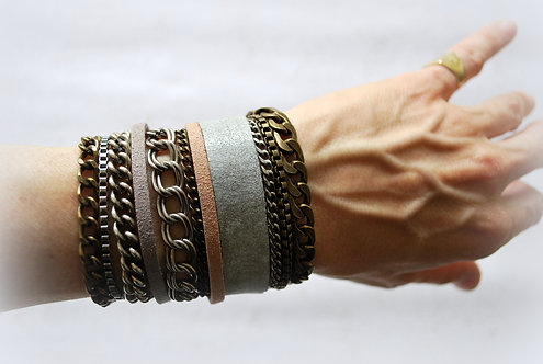 NIMMA | Wrap Bracelet | Shades of Nude & Grey