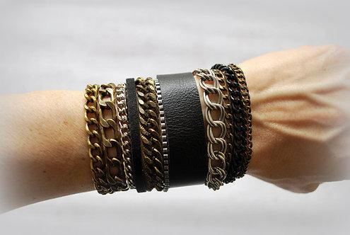 NIMMA | Wrap Bracelet | Shades of Black