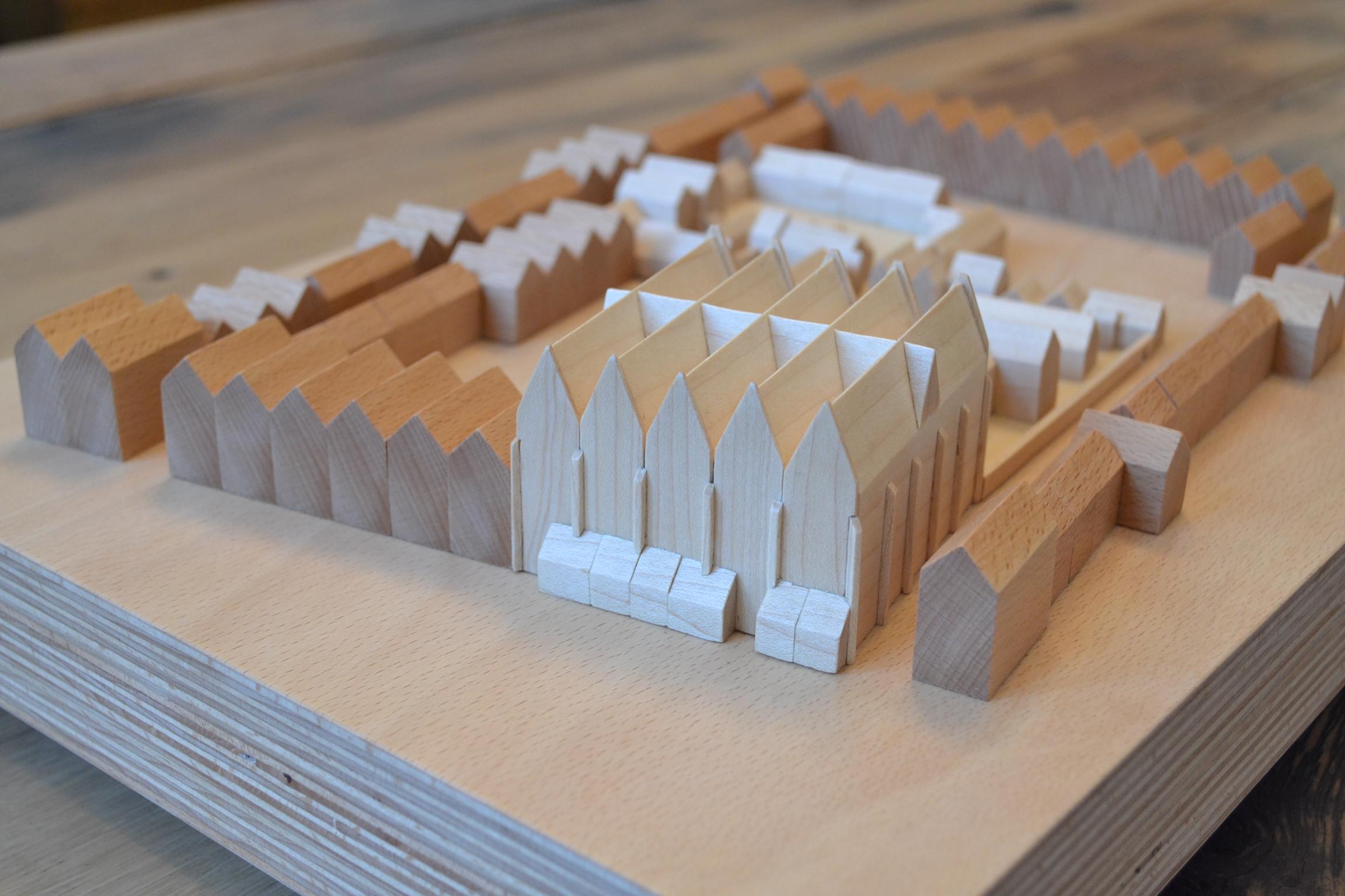 ARCHITEKTURMODELL HOSPITAL ROSTOCK