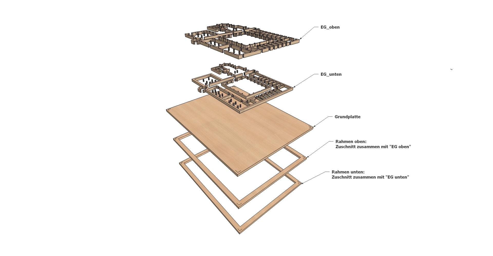 ARCHITEKTURMODELL HOSPITAL KUES