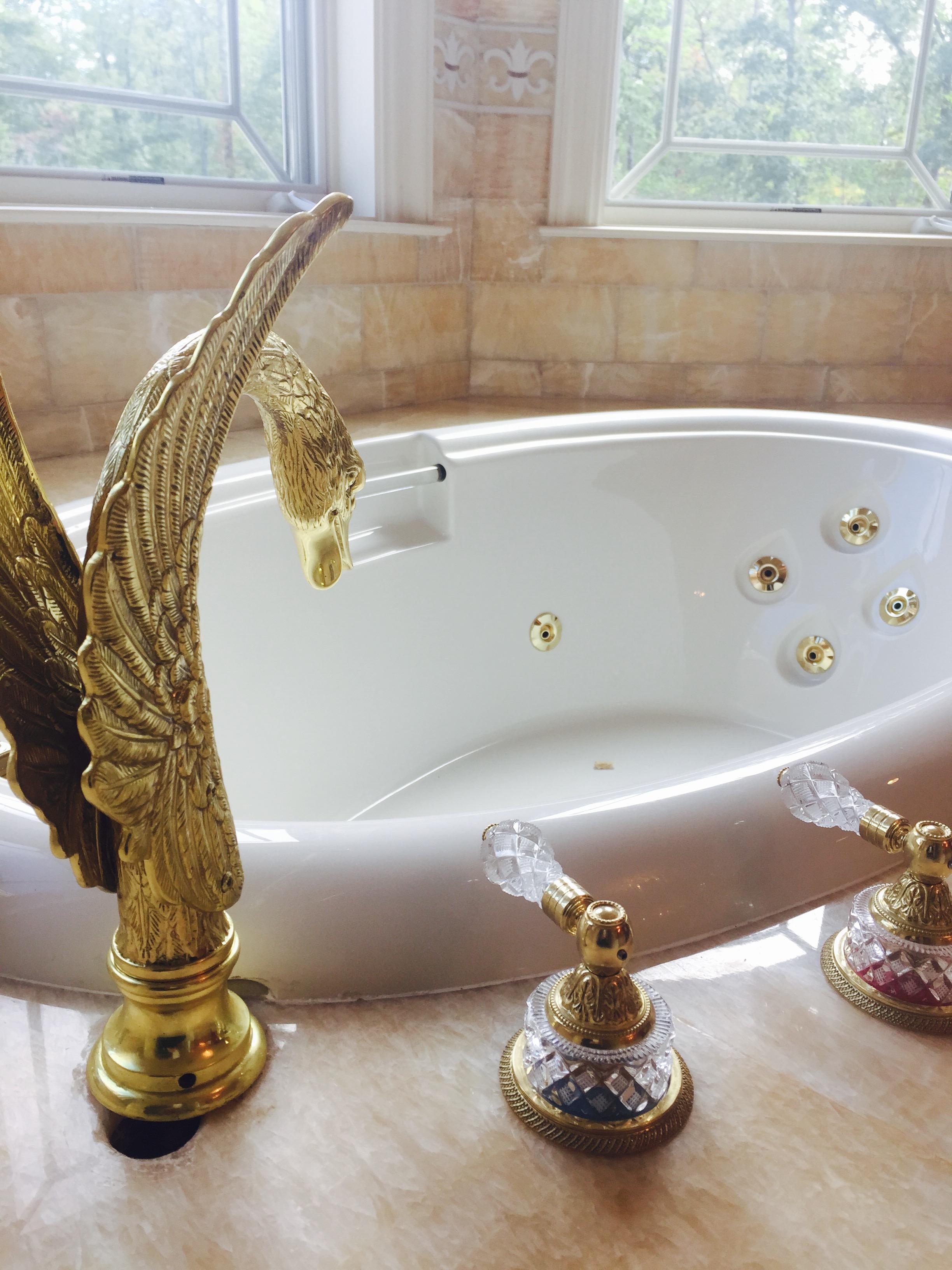 Honey Onyx Master Bath