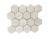 "HEXAGON CALACATTA 2""MOSAIC"