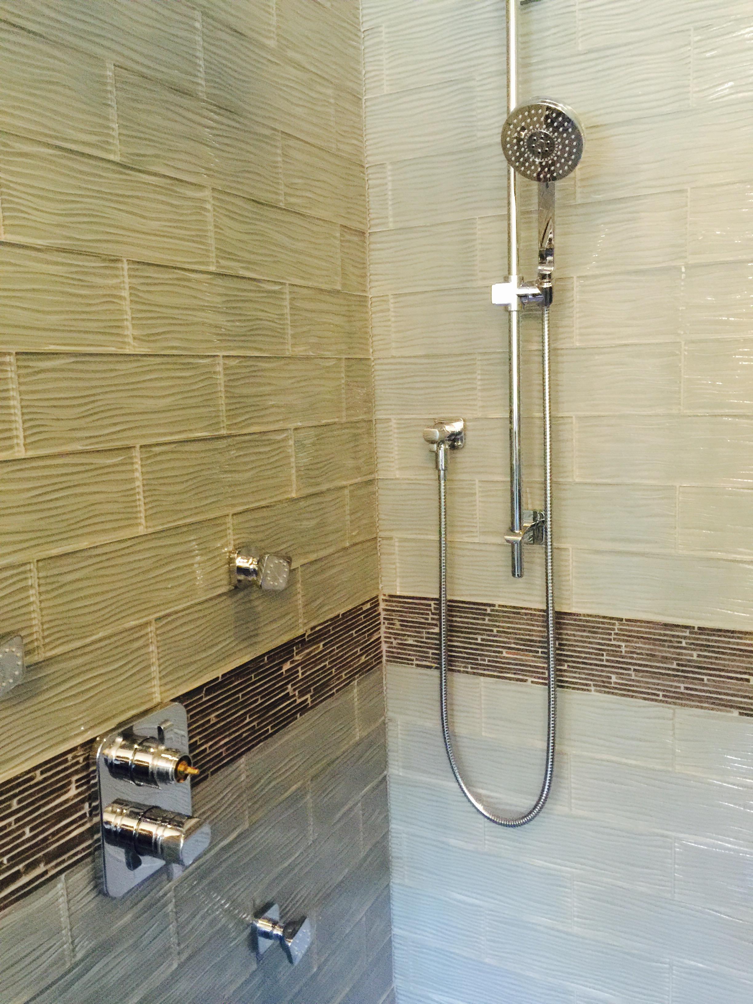 Glass and Slate Bathroom