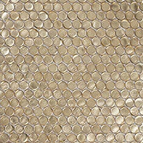 GOLD PENNY ROUND GLASS MOSAIC