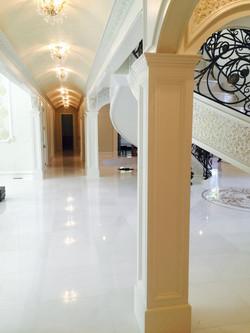 Foyer Hallway with Dolomite