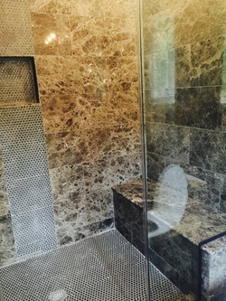 Dark Emperador Bathroom