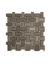 HONED BASKET WEAVE GRAY DOT MILANO GRAY MOSAIC