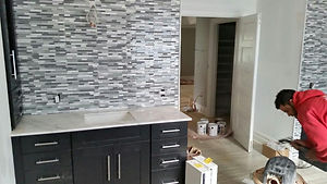 NJ Tile Installation in Process