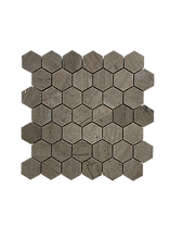 HONED HEXAGON MILANO GRAY MOSAIC