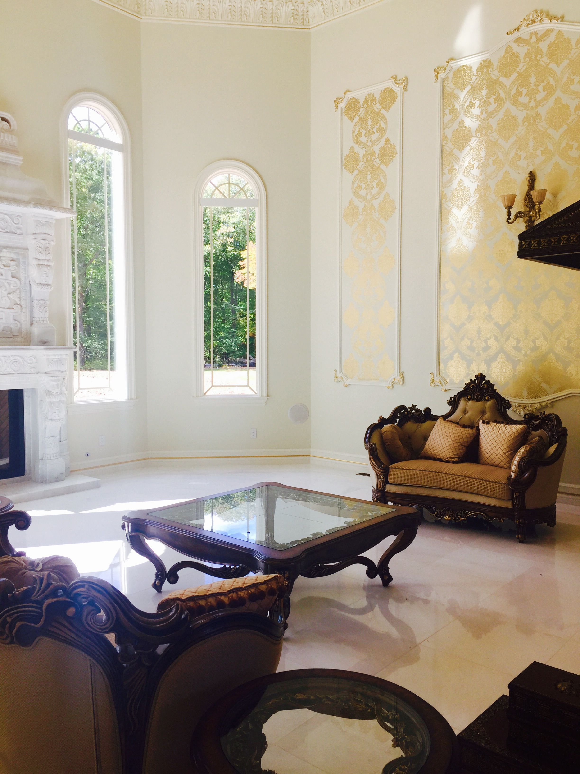 Formal Living Room with Dolomite