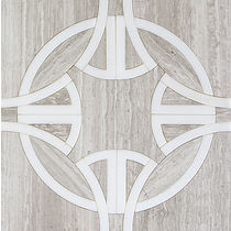 CELTIC KNOT WATERJET - OYSTER GRAY AND THASSOS MOSAC