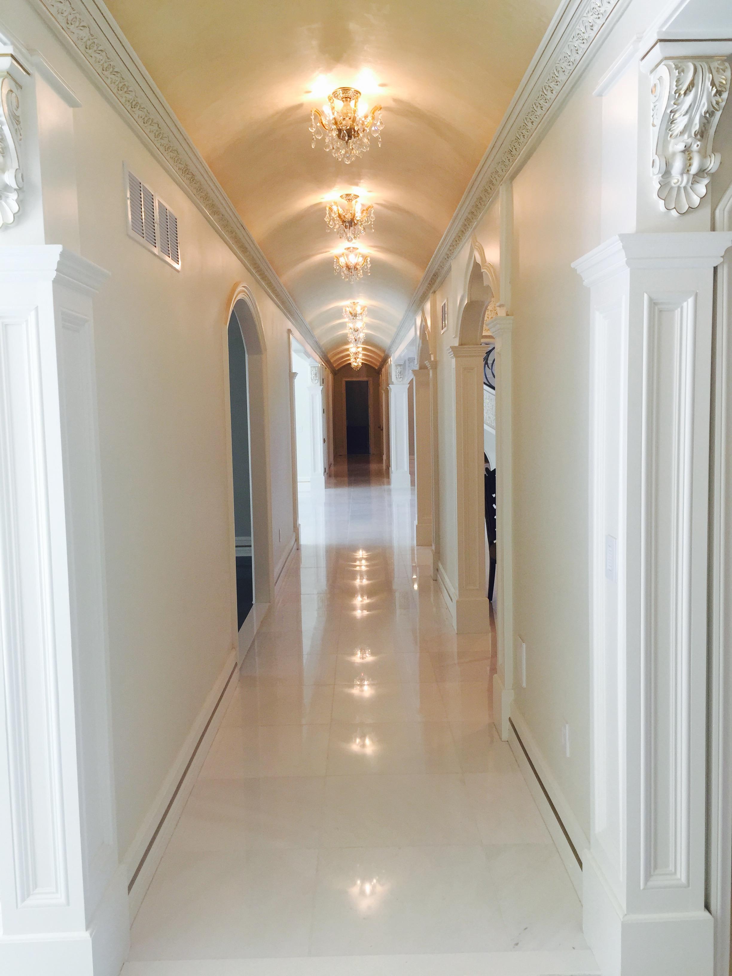 Hallway with Dolomite 24x24