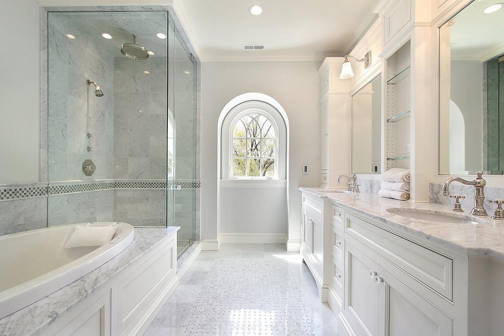 Classic White Carrara Bathroom