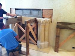 Marble Columns installation