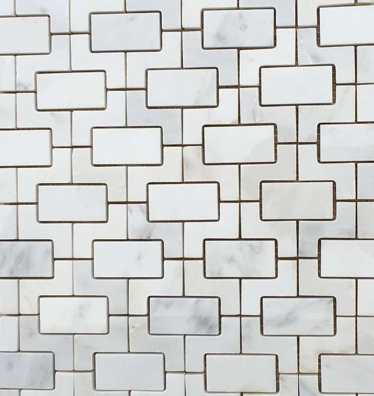 Arabescato Marble Mosaic Fretworks Pattern