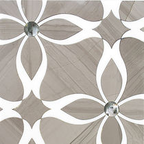LILY WATERJET - ATHENS GRAY AND THASSOS MOSAIC
