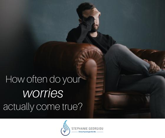 Πόσο συχνά συμβαίνουν τα πράγματα για τα οποιαανησυχούμε περισσότερο;