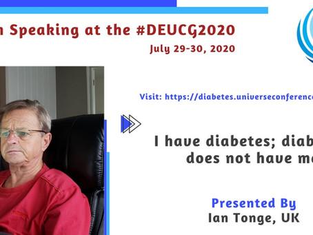 I have diabetes; diabetes does not have me!