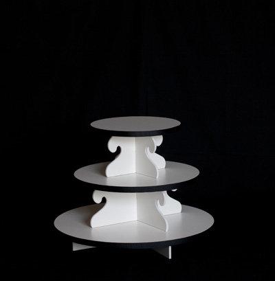 Small Cupcake Tower - White