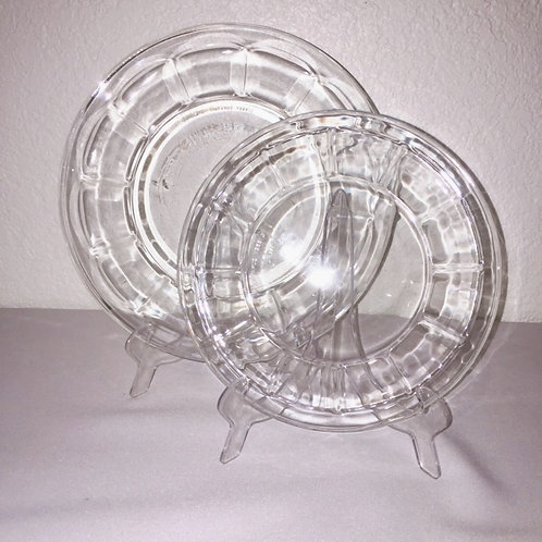 Clear Glass Dinnerware (priced per piece)