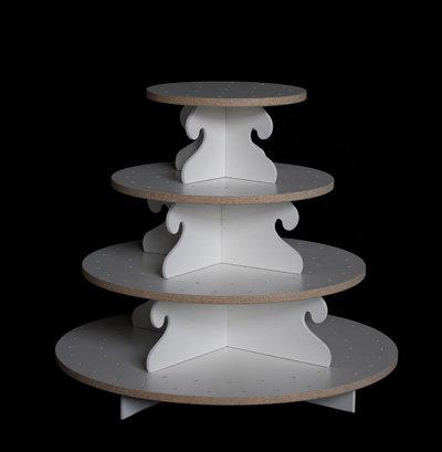 Medium Cupcake Tower - White