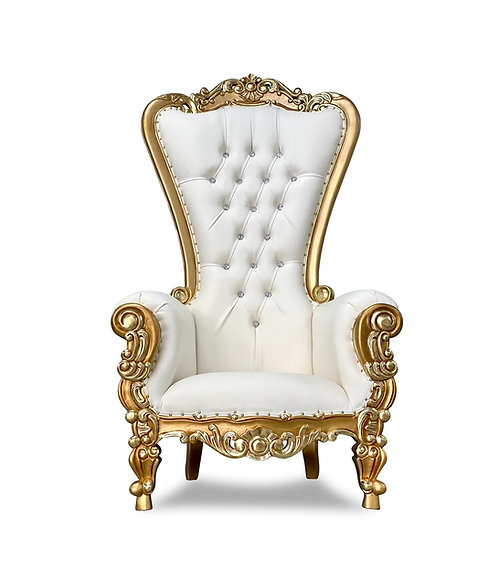 OG Throne Chair - Ivory/Gold