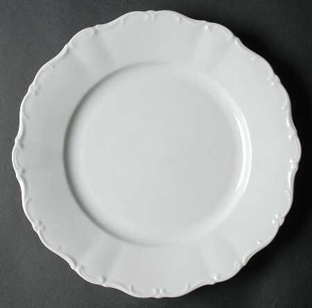 White Theresia Scroll Edge (priced per piece)