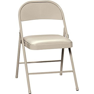 Metal Beige Padded Chair