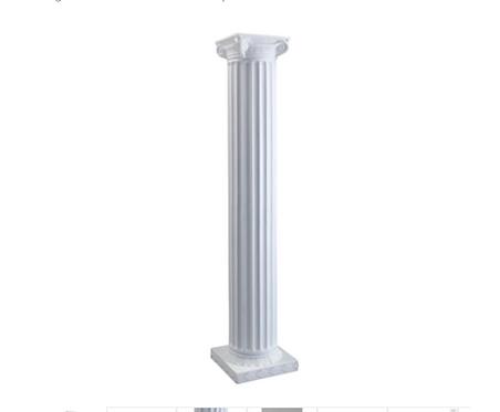 6' White Column