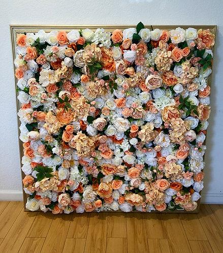 "Flower Wall (Gold Framed) - 48"" x 48"""