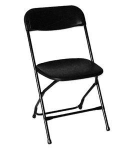 Black Samsonite (Plastic) Chair