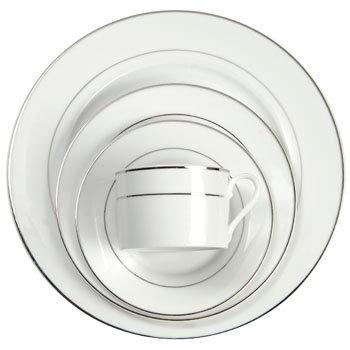 White w/Platinum Band (priced per piece)