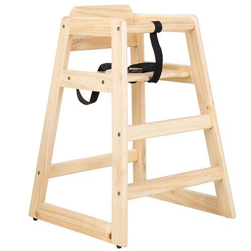 High Chair - (Natural Wood)