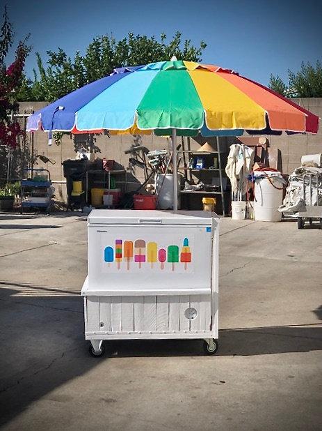Ice Cream Cart w/Umbrella