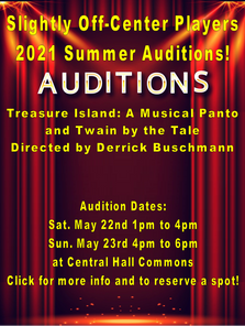SOCP Summer Auditions!
