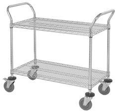 2 - Shelved Rolling Cart