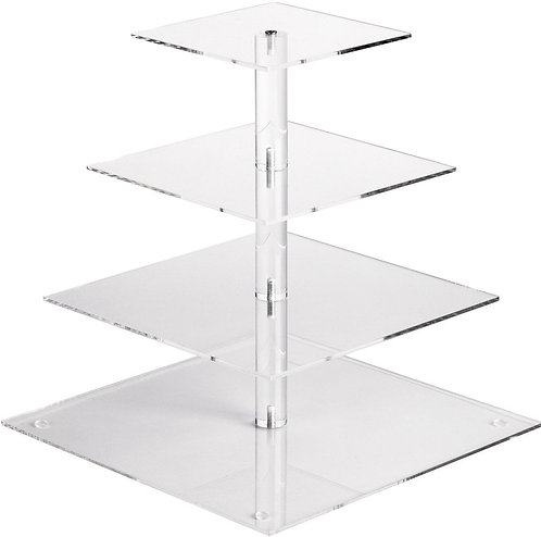 Acrylic 4-Tier Square Serving Tray