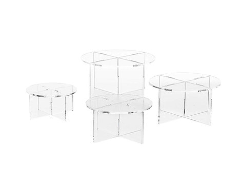 Acrylic Round Riser/Cake Stand Set (4 stands)