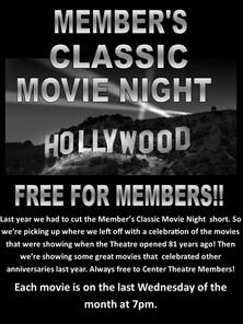Member's Classic Movie Night
