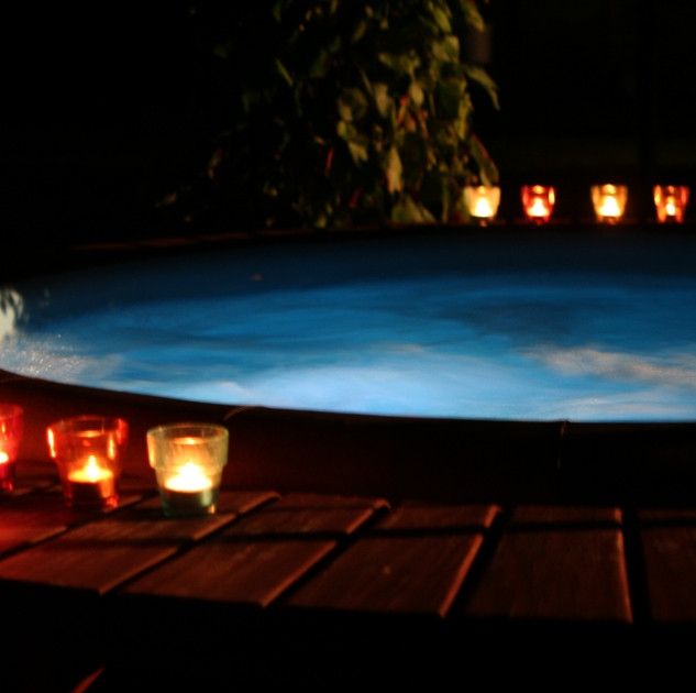 softub at night