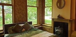 slaapkamer met haard