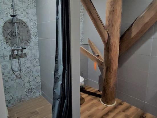 Badkamer zilver/groene slaapkamer