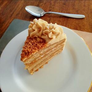 A salted caramel vegan cake